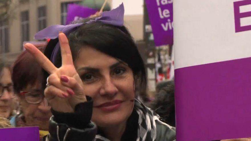شاهد: مظاهرات في أوروبا تنديدا بكل أشكال العنف ضد المرأة