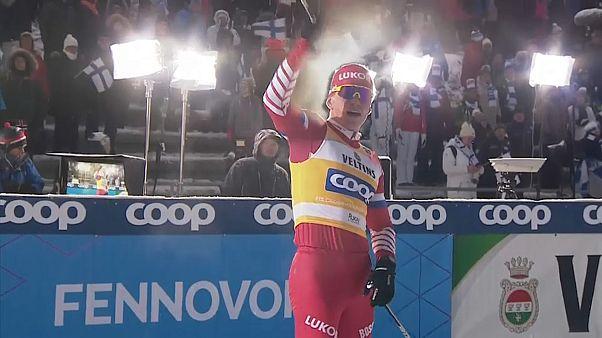 Российский лыжник Большунов выиграл вторую гонку подряд