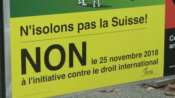 Suiza vota en referéndum someterse a los tratados internacionales