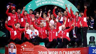 كرة المضرب: كرواتيا تفوز بلقب أخر بطولة لكأس ديفيس على حساب فرنسا