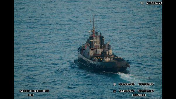 La Russie s'empare de trois navires ukrainiens