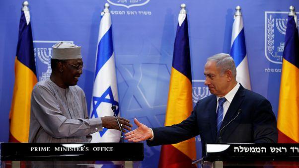 Benjamin Netanyahu et Idriss Déby