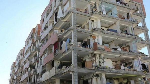 مبنى تعرض لزلزال قوته 5.5 في مطلع 2018 - أرشيف يورونيوز
