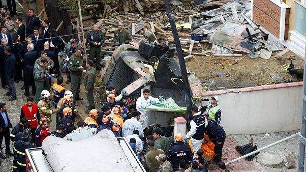 Turquie : crash d'hélicoptère en plein Istanbul