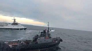 [Vídeo] El momento en el que Rusia capturó los tres barcos ucranianos