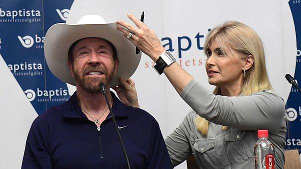 Chuck Norris Budapesten jelentette be új filmjét