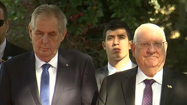 Milos Zeman cseh, és Reuven Rivlin izraeli elnök