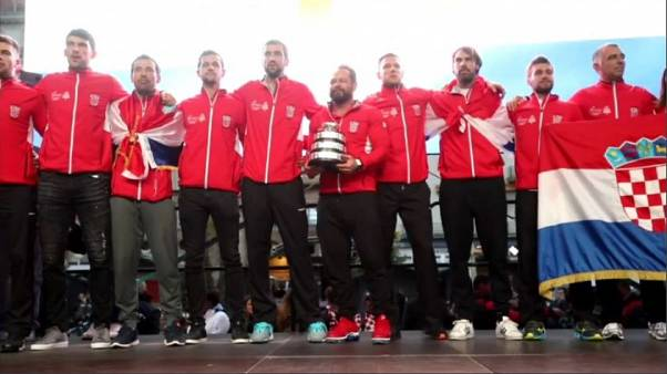 Coppa Davis, bagno di folla per la Croazia campione