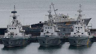 ناوچههای توقیف شده اوکراینی به دست نیروی دریایی ارتش روسیه