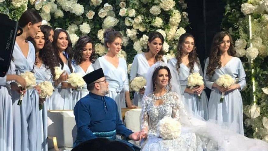شاهد: زواج ملك ماليزيا من ملكة جمال روسيا