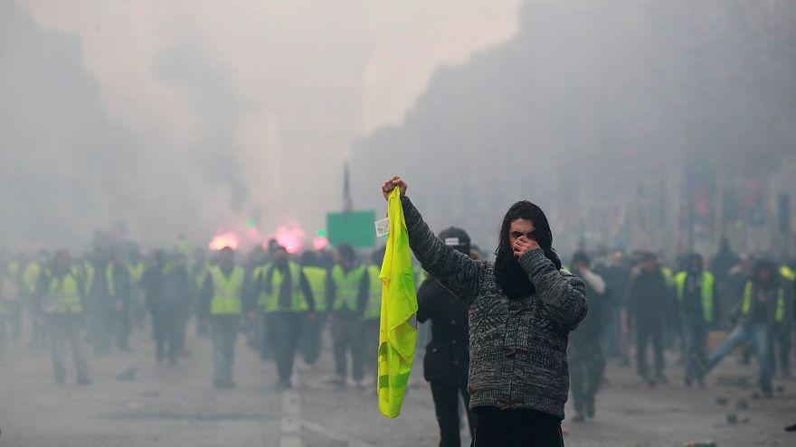 """حراك """"السترات الصفراء"""" يصل إلى قلب العاصمة بروكسل"""