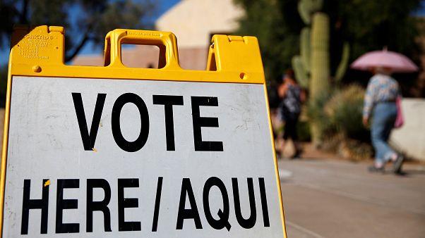 Un cartel electoral en EEUU durante las elecciones legislativas