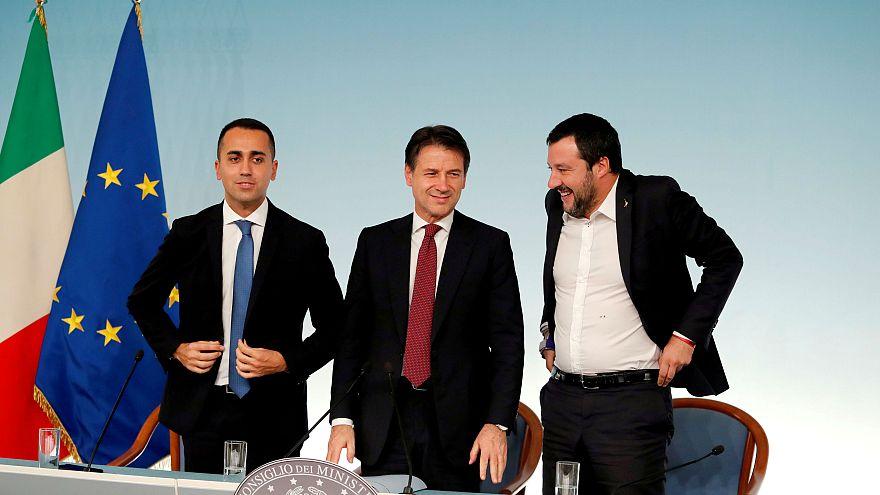 Luigi Di Maio, PM Giuseppe Conte and Interior Minister Matteo Salvini