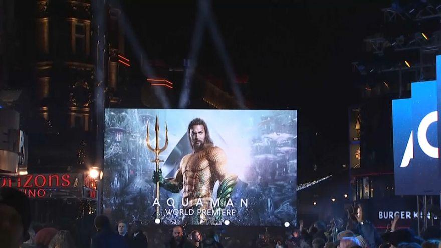 """Estreia mundial de """"Aquaman"""" em Londres"""