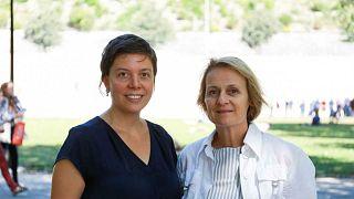 Lauriane Savoy and Elisabeth Parmentier, teachers at Geneva University