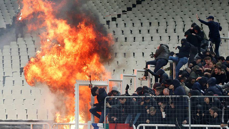 Ajax szurkolók sérültek meg Athénban