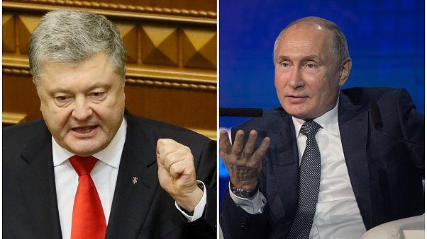 Poroşenko: Bay Putin, lütfen Ukrayna'dan defol, Putin: Poroşenko reyting peşinde