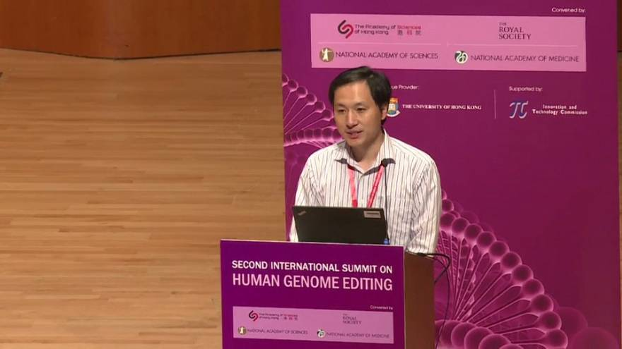 Scientist who claims to have created genetically-edited babies presents findings