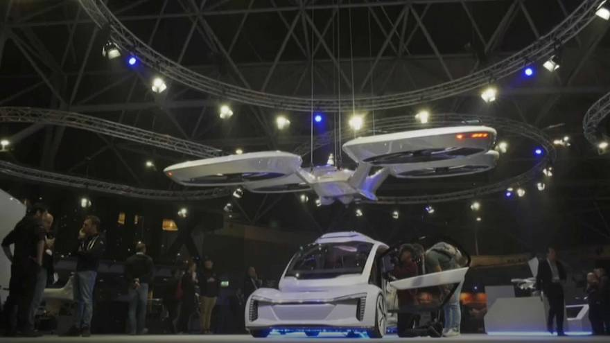Air-taxi prototype unveiled at Amsterdam drone show