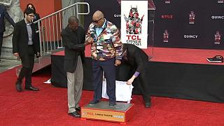 Quincy Jones honoured in Hollywood handprint ceremony