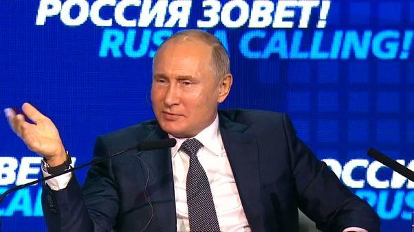 Putin intervistato dalla tv russa a proposito della crisi con l'Ucraina