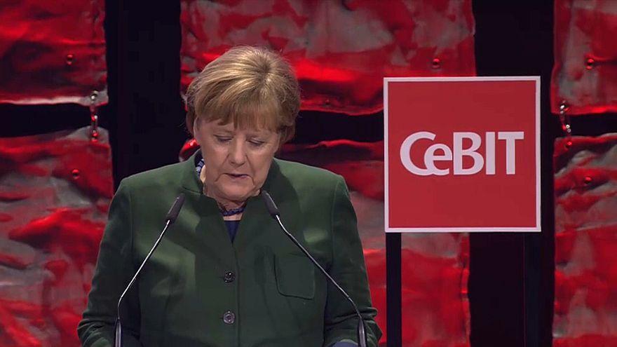 Angela Merkel bei der CeBIT 2017