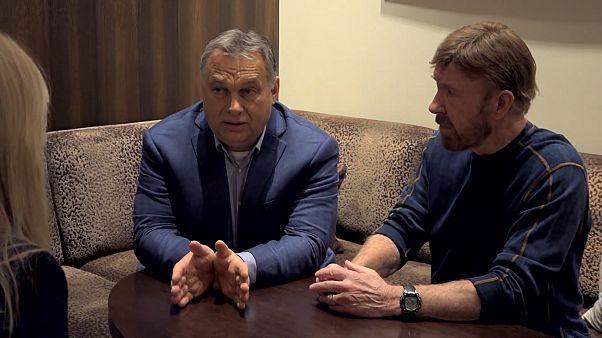 Video | Macaristan Başbakanı Orban'dan Chuck Norris'e: Ben bir sokak dövüşçüsüyüm