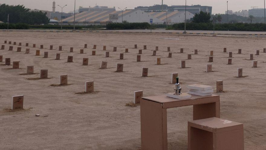 Video | Kuveyt'te yasak kitaplar mezarlığı