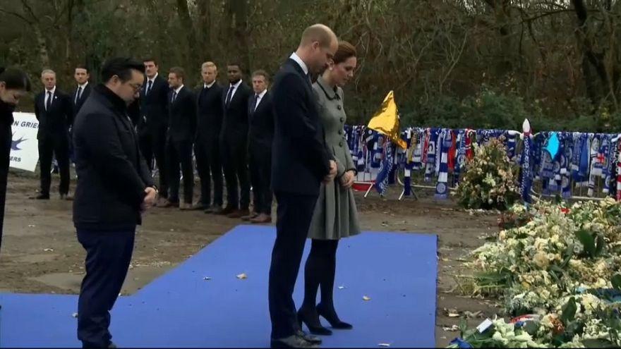 الأمير وليام وزوجته كيت يترحمان على ضحايا تحطم طائرة مالك ليستر سيتي