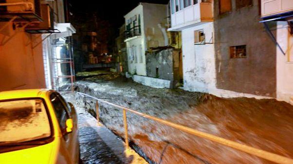 Λέσβος: Ζημιές από την ισχυρή βροχόπτωση