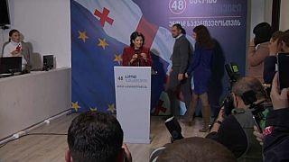 Salome Surabischwili wird erste Präsidentin Georgiens