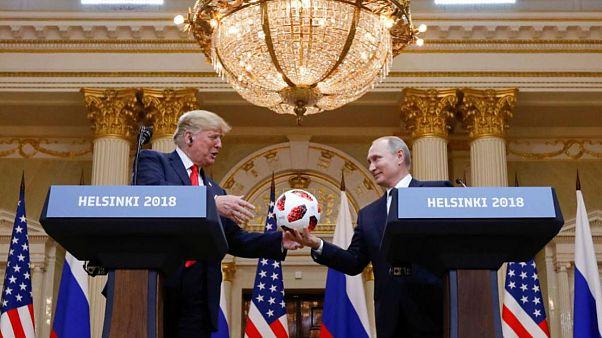 دونالد ترامپ، رئیس جمهوری آمریکا و ولادیمیر پوتین، رئیس جمهوری روسیه