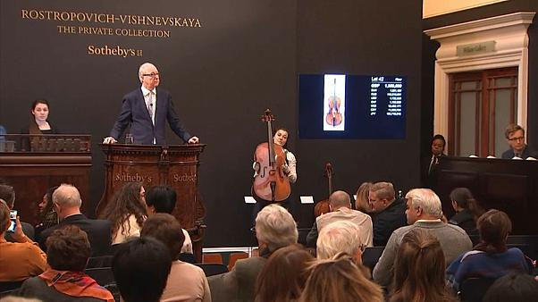 Rekorderlös bei Sothebys - über 2 Millionen Euro für Rostropowitsch-Cello