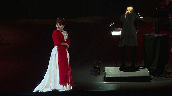 Maria Callas hologramja állt a színpadra szerda este Párizsban