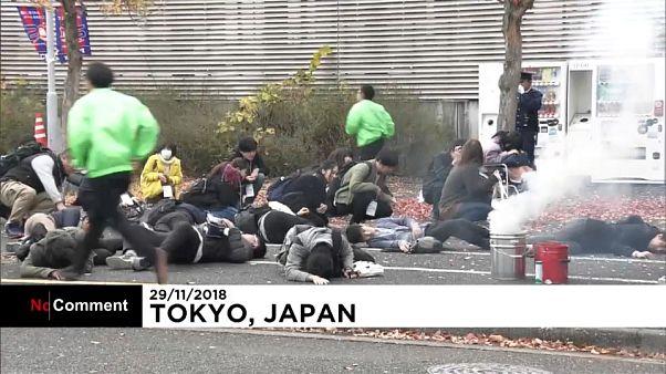 Simulacro antiterrorista en un estadio de los Juegos Olímpicos y Paralímpicos de Tokio 2020