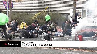 Exercice anti-terroriste à Tokyo