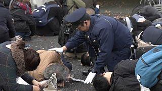 شاهد: شرطة طوكيو تحاكي هجمات إرهابية محتملة خلال أولمبياد 2020