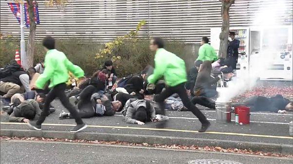 Japonya'da olimpiyatlar öncesi terör saldırısı tatbikatı