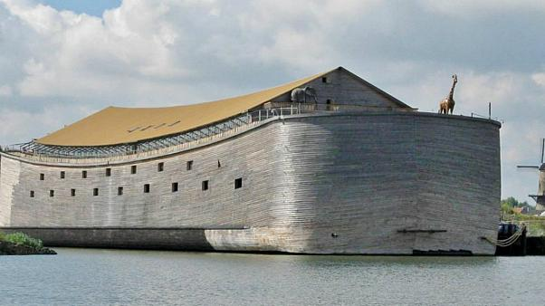 Johan Huiders built a life-size replica of Noah's Ark
