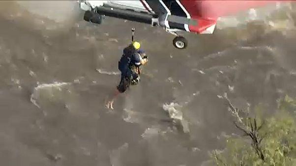 A tűz után áradás pusztít Kaliforniában