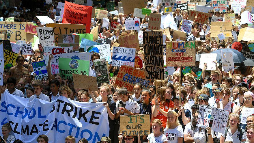 إضراب جماعي لتلاميذ أستراليا للضغط من أجل مكافحة التغير المناخي