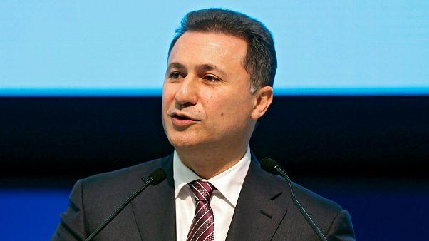 Nikola Gruevszki beszédet mond az Európai Néppárt kongresszusán 2015-ben
