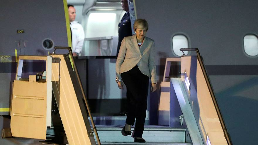 British Prime Minister Theresa May arrives at the G-20 summit in Argentina
