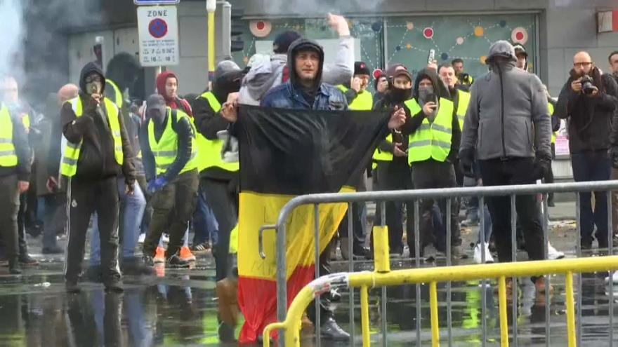 Gelbwesten vor der EU-Haustür in Brüssel
