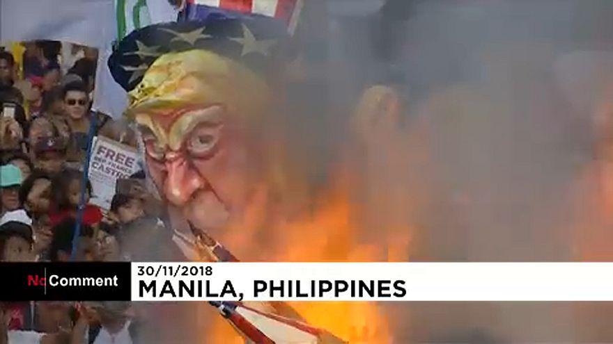 Manifestación en Filipinas en el aniversario del líder revolucionario Andrés Bonifacio