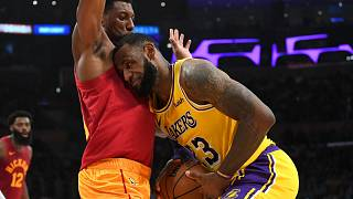 Los Angeles Lakers feiern Sieg gegen Indiana Pacers