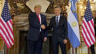 """ترامب لرئيس الأرجنتين: """"لدي ذكريات جميلة مع والدك ولم أكن أعلم أن ابن صديقي سيصبح رئيسا"""""""