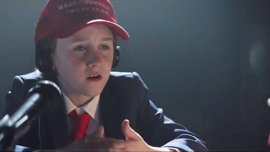 Fricska Trumpnak a karácsonyi reklámban