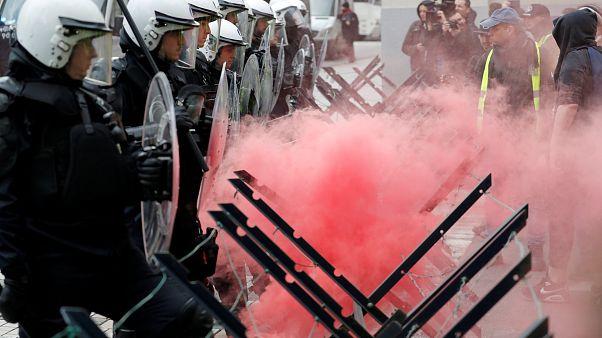 Fransa'daki eylem Brüksel'e taşındı; en az 60 gözaltı