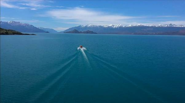 Cliff-diving at South America's largest freshwater lake